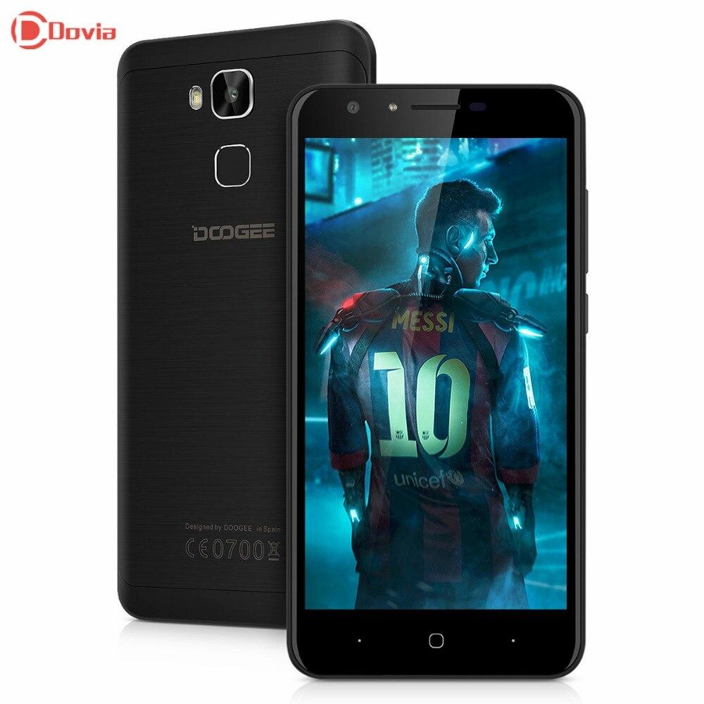 Doogee mtk6737 y6c android 6.0 5.5 pulgadas 4g smartphone quad Core 2 GB RAM 16