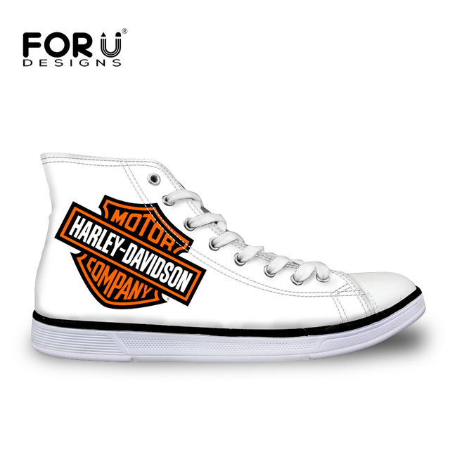 FORUDESIGNS Womens High Top Vulcanized Shoes Fashion Women Casual Lace-up High-top Canvas Shoes for Female Ladies Students Flats