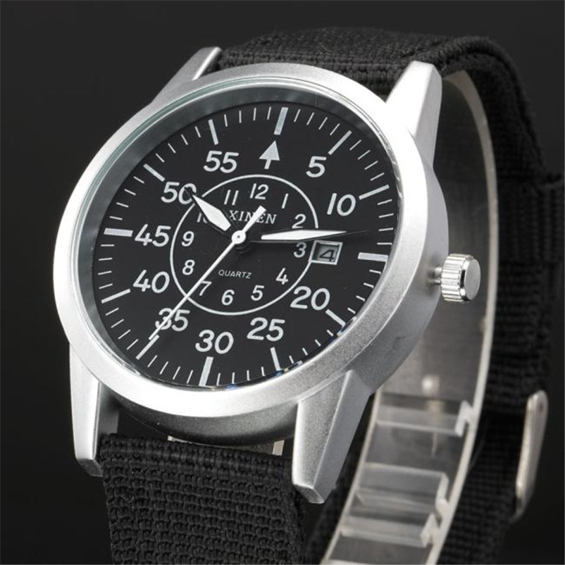 Men Stainless Steel Watch Military Sport Date Analog Quartz army Style Wrist Watch relogio masculino drop shipping gift 2017 fashion stainless steel leather men s military sport analog quartz wrist watch men square casual watches relogio masculino