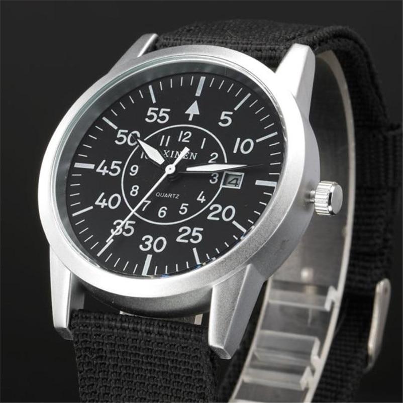 Men Stainless Steel Watch Military Sport Date Analog Quartz army Style Wrist Watch relogio masculino drop shipping gift недорого