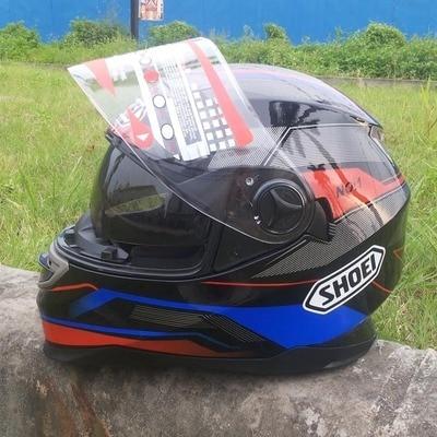 SHOEI Motorcycle Full Face Riding Helmet Motorbike Street Motor Touring Scooter Racing Helmet with Dual Visor Sun Shield Lens