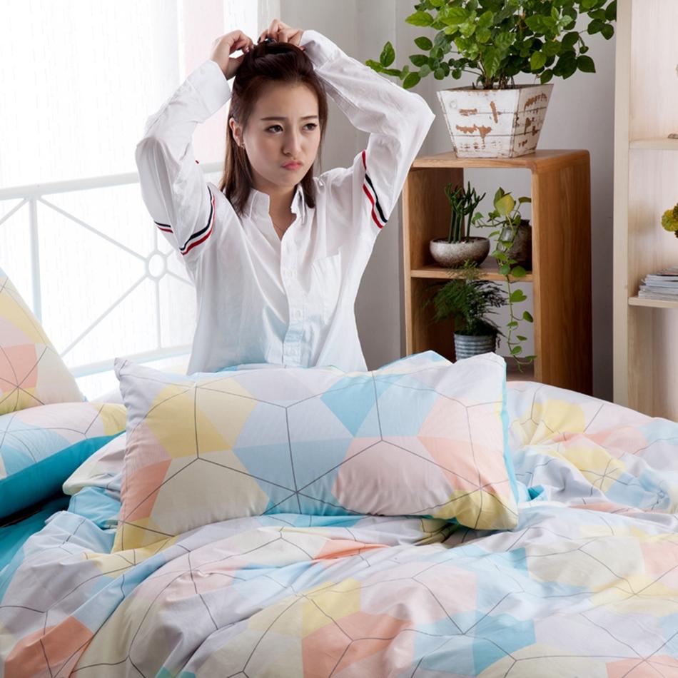 romntico ropa de cama funda nrdica sbana funda de almohada algodn suave juego de