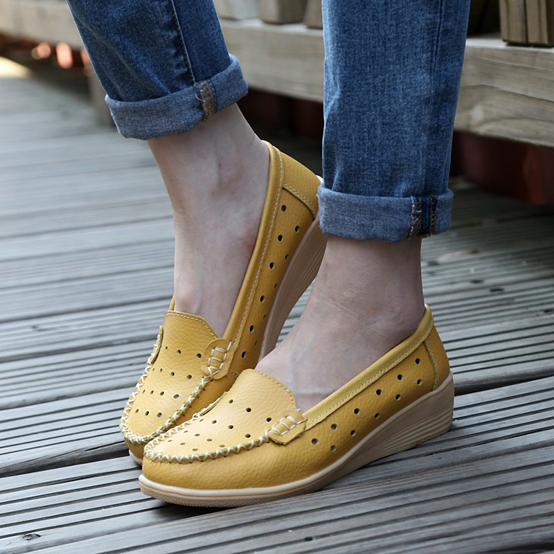 Women shoes 2017 Fashion Genuine Leather shoes Women Ballet Flats Moccasins Slip On Flats Women Casual Shoes Loafers Oxford designer women loafers flower genuine leather shoes ladies moccasins ballet flats round toe casual zapatos mujer size 35 44