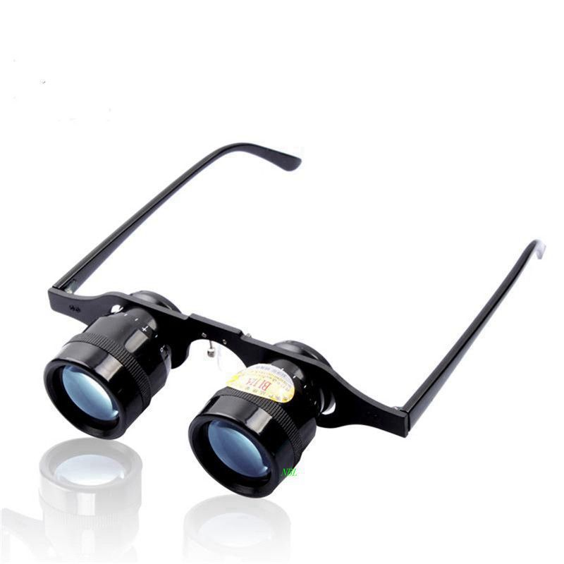 BIJIA 10X34 Portable Fishing Magnifier Glasses 10X Magnifying Loupe Blue Film Binoculars For Outdoor Watch Concert