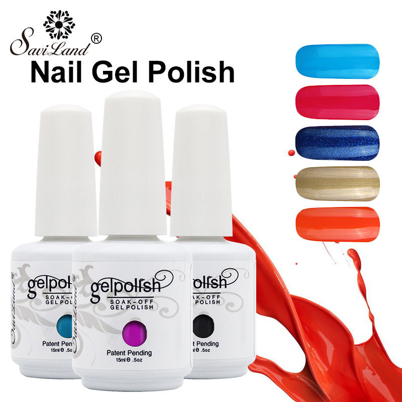 saviland 1pcs semi permanent gel nail polish 3d professional glitter soak off uv led gel lacquer. Black Bedroom Furniture Sets. Home Design Ideas