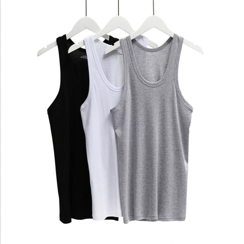 Men's Round neck Sleeveless Bodybuilding Cotton   Tank     Tops   Slim Fits Tee   Tops   Male   Tank     Top   Body Vest Men's Clothing Underware