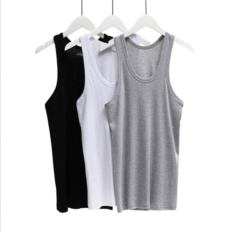 Men's Round neck Sleeveless Bodybuilding Cotton   Tank     Tops   Slim Fits Tee   Tops   Male   Tank     Top   Body Vest Men's Clothing Underware