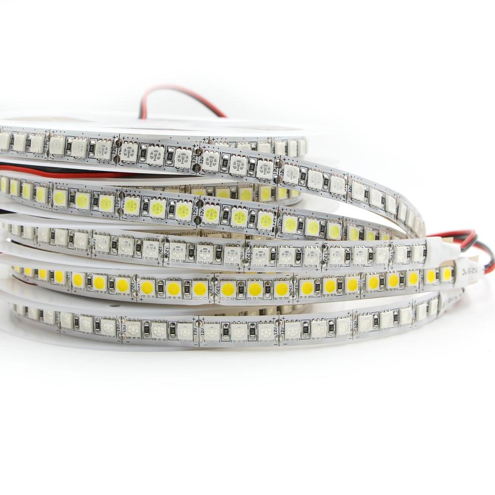 LED Strip Light Tape 5m 5050 SMD 60LEDs/M 120LEDs/M 12V Waterproof IP67 IP20 Flexible RGB Flexible LED Strip Light Tape Ribbon