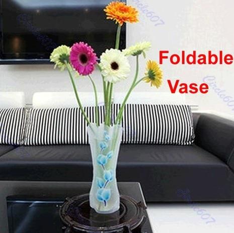 10pcslot Foldable Plastic Flower Vase Unbreakable Reusable Home