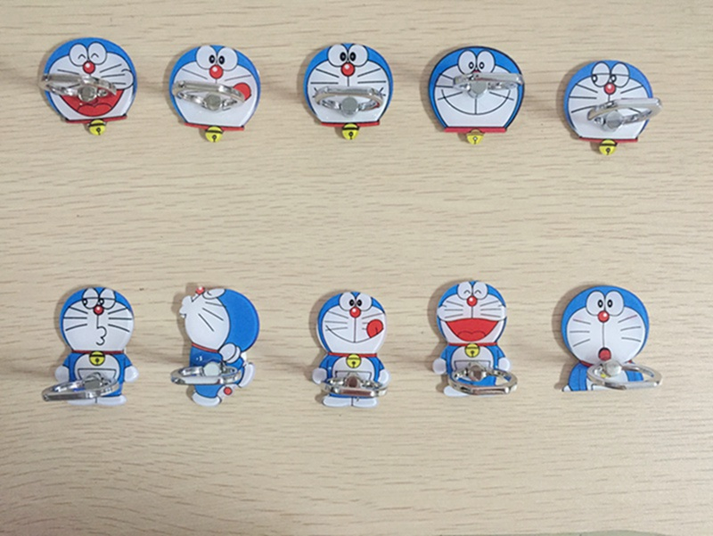 Cartoon Doraemon 360 Degree Finger Ring Holder Mobile phone Stand Universal Ring Hook Bracket for iphone.