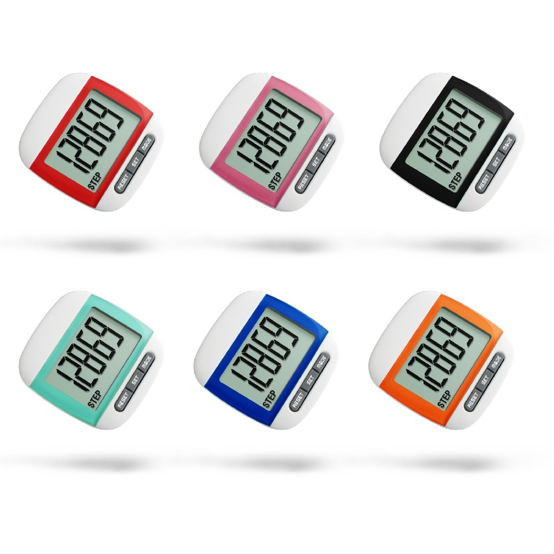 New Mini Waterproof Step Movement Calories Counter Multi-Function Digital Pedometer for Running Fitness