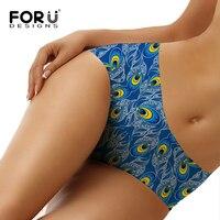 FORUDESIGNS Womens Underwear Pretty Peacock Design Sexy Panties Ladies Women S Briefs Seamless Panty Bikini Bragas