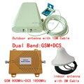 Полный комплект GSM 900 МГц 1800 МГц Сигнал Повторитель Сигнала Двухдиапазонный Booster GSM DCS 900 1800 Сотовый Телефон Усилитель Сигнала с антенна