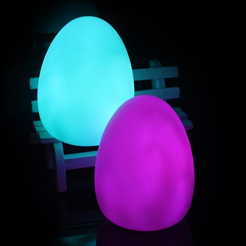 Tool Egg Night Light 7 Colors Visual Stim Autism Special Needs Multi Sensory Room Bedroom Party Indoor Outdoor Lightning Decor