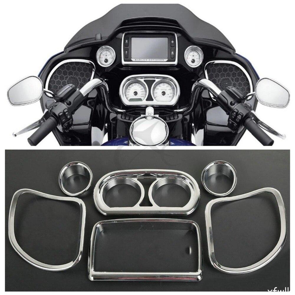 Inner Fairing Speedometer Radio Speaker Trim Kit For Harley Road Glide 2015-2017 FLTRX FLTRXS цена