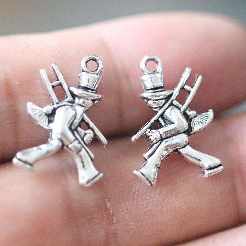 30 Fleur européenne Zircon Crystal Charm Silver Spacer Beads Fit Collier Bracelet