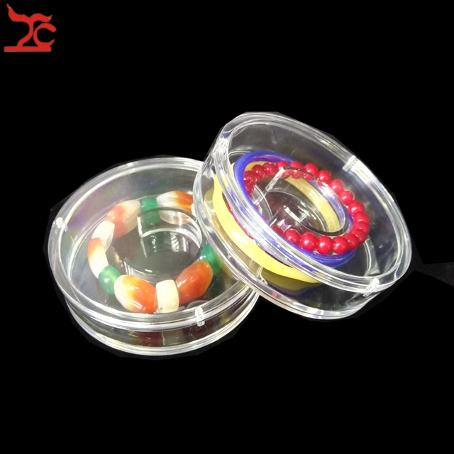 Wholesale 10Pcs Round Acrylic Jewelry Display Case Clear Bangle