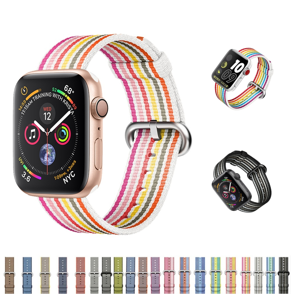 Woven nylon For Apple Watch band