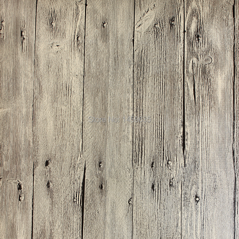 Nostalgic vintage chinese style wallpaper plank wood grain for Wood in chinese