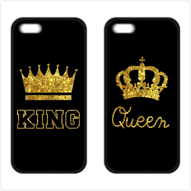 King Queen Coque Cover Case For IPhone 4S 5 5S 5C SE 6 6S