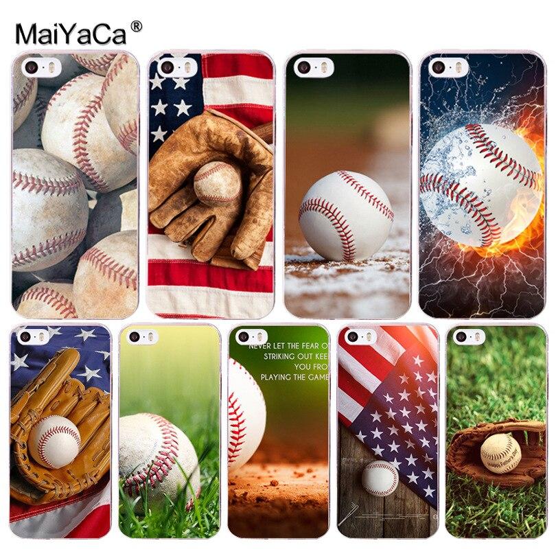 Maiyaca Бейсбол Баскетбол Хит продаж дизайн кожа тонкая сотовый Чехол для Apple IPhone 8 7 6 6 S Plus X 5 5S SE 5C 4 4S крышка