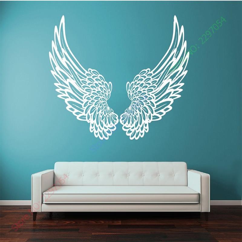 New Wall Vinyl Sticker Wall Decal Big Wings Angel God Guardian Bird Kids Children Home Decor Decoration Wall Art 1