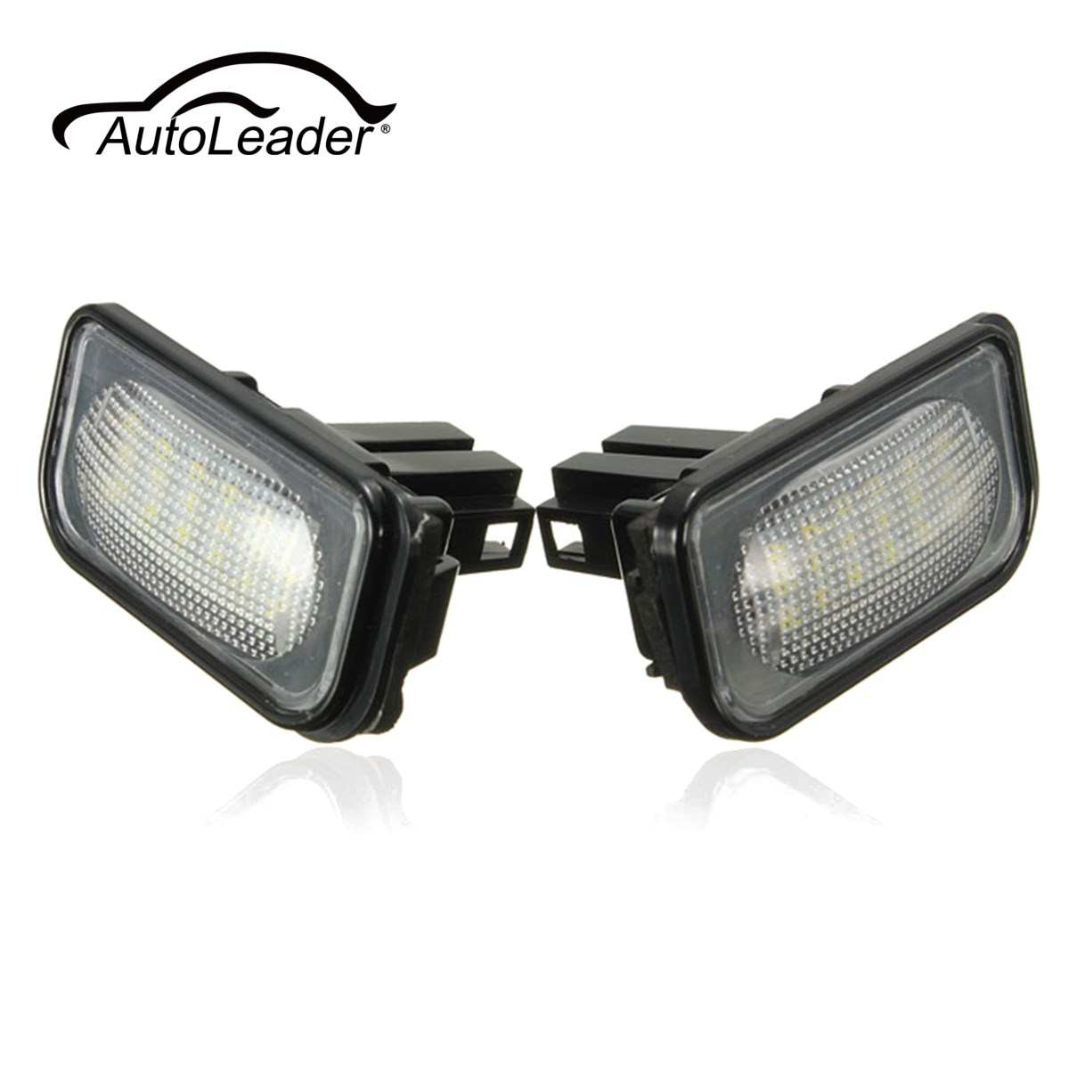AutoLeader 18LED 3528 SMD License Plate Light For Benz  2001-2007 4 Doors Wagon C Class W203 4D Sedan CLS-Class W219 E-Class motorcycle tail tidy fender eliminator registration license plate holder bracket led light for ducati panigale 899 free shipping