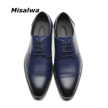 Misalwa Brand Men Simple Lightweight Men Classic Derby Shoes Male Business Dress Formal Shoes Red Blue Size 37-48 Drop Shipping