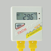 AZ 88378 Dual Channel K Thermocouple Temperature Recording Thermometer Logger Detector