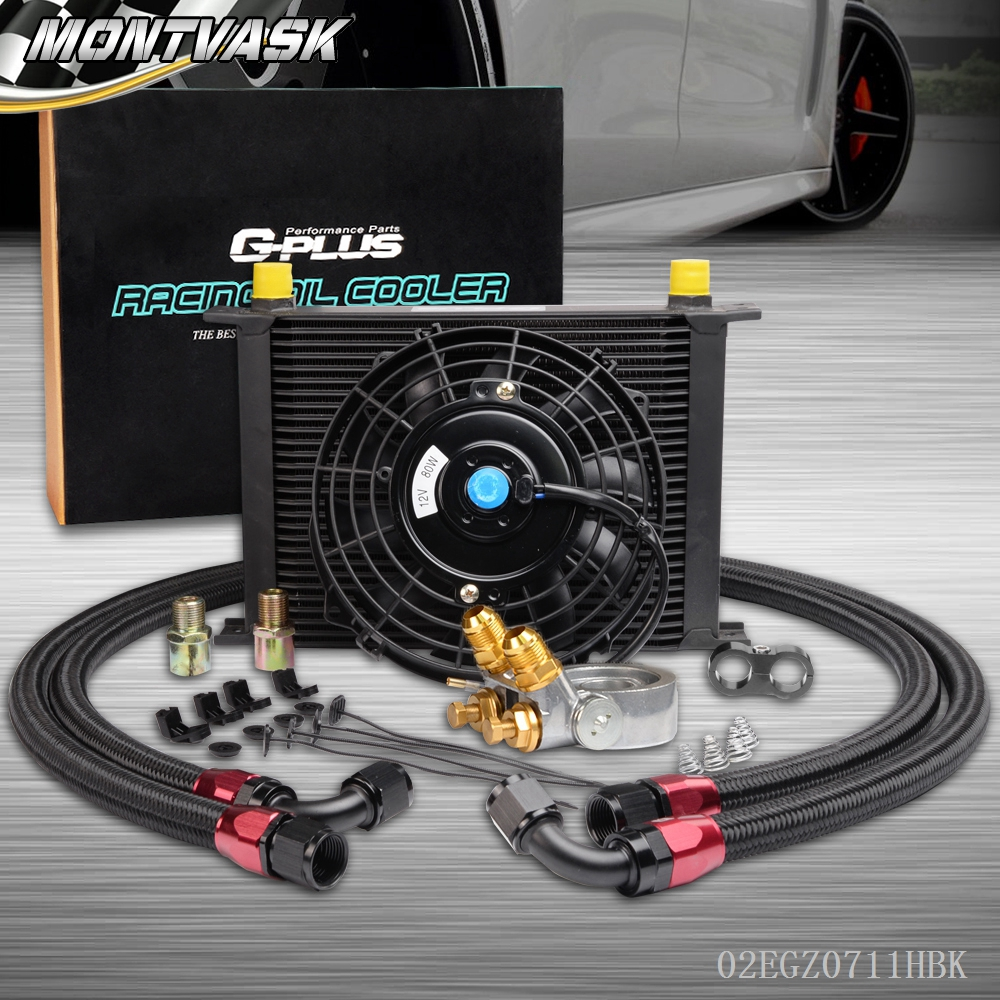 US Thermostat Adaptor 28 Row  Engine Racing Oil Cooler Kit For CAR/TRUCK +  Fan видеоигра бука saints row iv re elected
