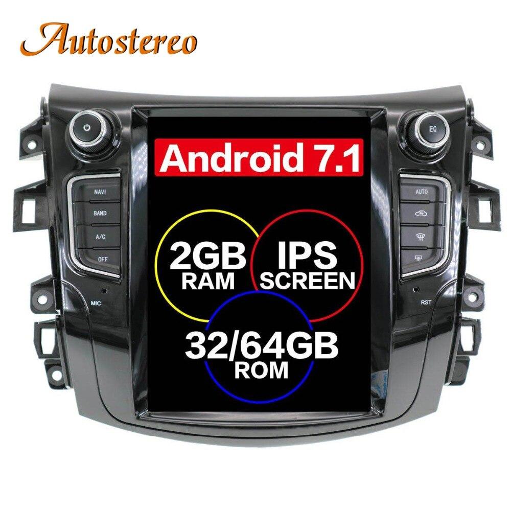 Android Tesla style Car GPS Navigation no DVD Player For NISSAN NP300 Navara 2014 multimedia tape