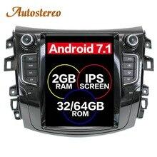 Android Tesla style Car GPS Navigation no DVD Player For NISSAN NP300 Navara 2014+ multimedia tape radio recorder head unit PAD