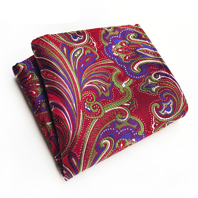 Floral Printed Handkerchief Paisely Hankies For Men Brand Small Pocket Towe Pocket Square For Mens Suit Wedding