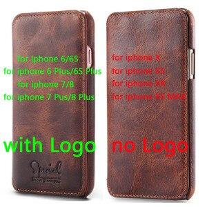 Image 2 - 수제 전화 커버 아이폰 11 프로 최대 12 6S 7 8 플러스 지갑 플립 케이스 아이폰 XS 맥스 X xr에 대한 고급 정품 가죽 케이스