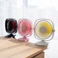 DC9V USB Desktop Clip Fan with Built in 2000mAh Large Capacity Battery Home Office School Desktop Summer Cooling Fan