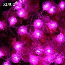 10M 100pcs Ball LED String Fairy Light Garland Furry Snow Edelweiss Christmas Lights Outdoor Garden 220V
