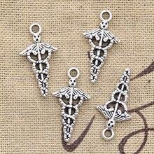 Jewelry Charms Symbol Tibetan Caduceus Pendants-Making Silver-Color Antique Diy Handmade