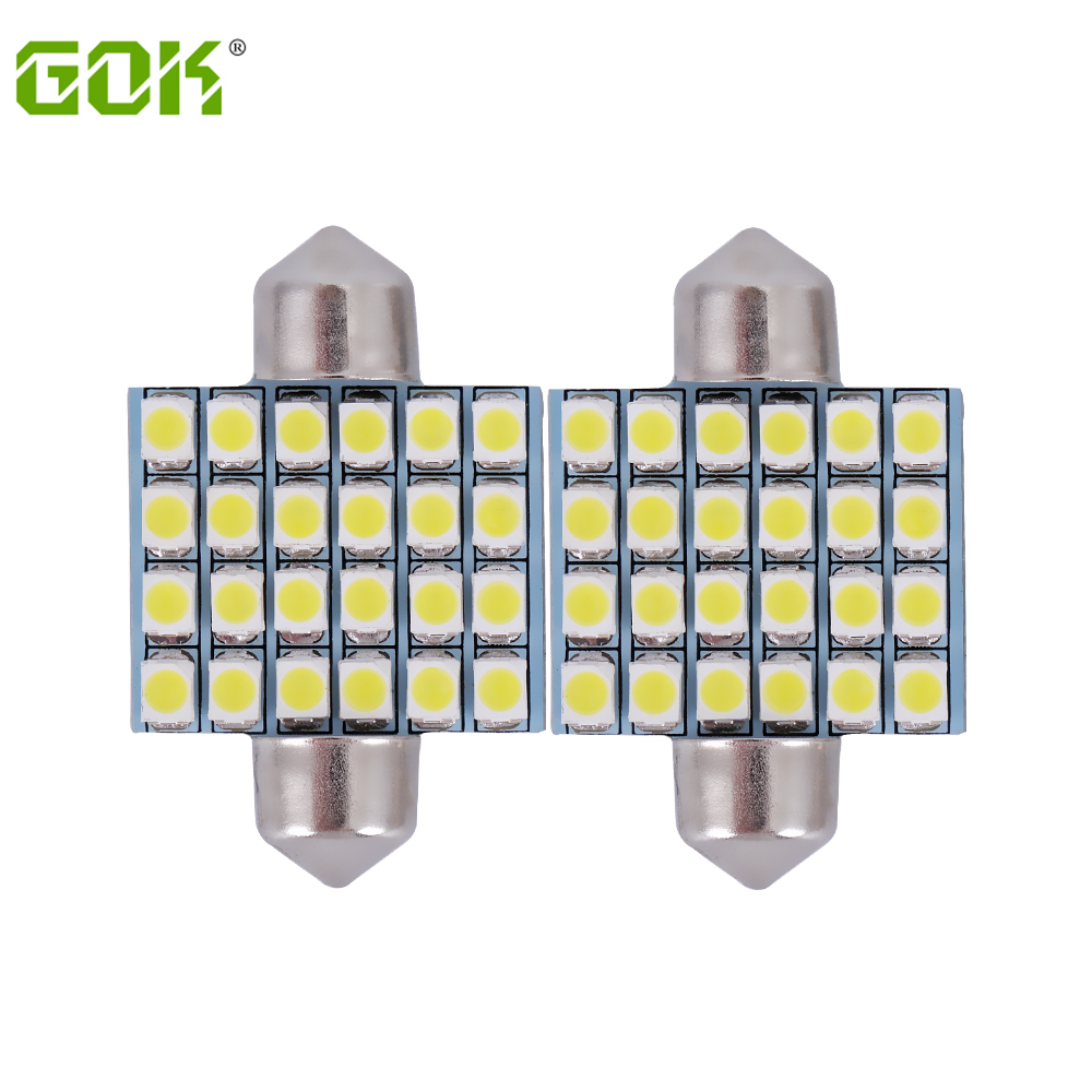 Festoon led light 31mm 36mm 39mm 41mm 1210 3528smd festoon 24SMD Car Auto Interior Light White