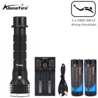 AloneFrie DV33 26650 Diving Flashlight XML L2 LED Underwater Waterproof Diver Diving Torch Flash light Lamps