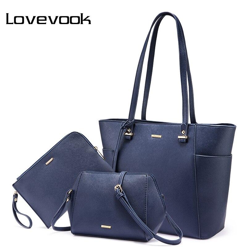LOVEVOOK handbags women shoulder bag set crossbody bags female purse and clutch ladies messenger bags tote