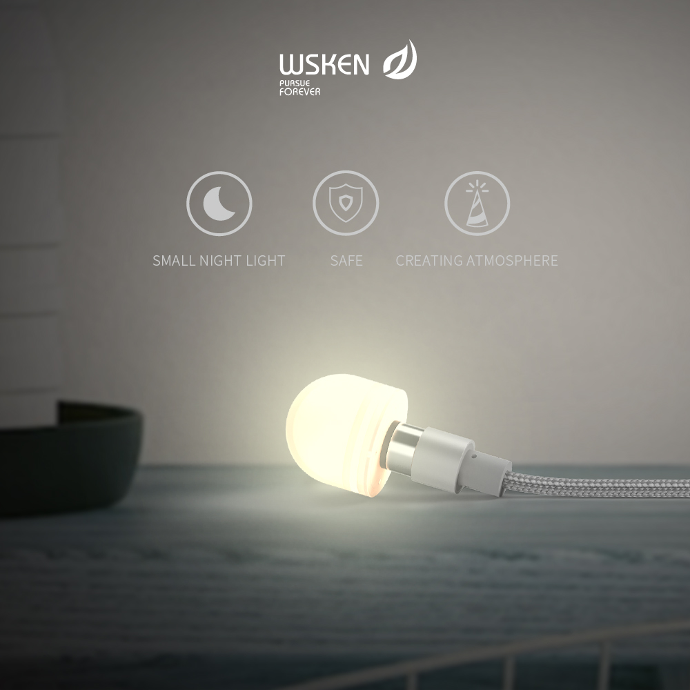 US $6.9 21% OFF|WSKEN Round Magnetic Bulb LED Light USB Charging Cable Christmas Outdoor LED Adapter Bulb Round USB X Cable Magnetic Cable|Mobile