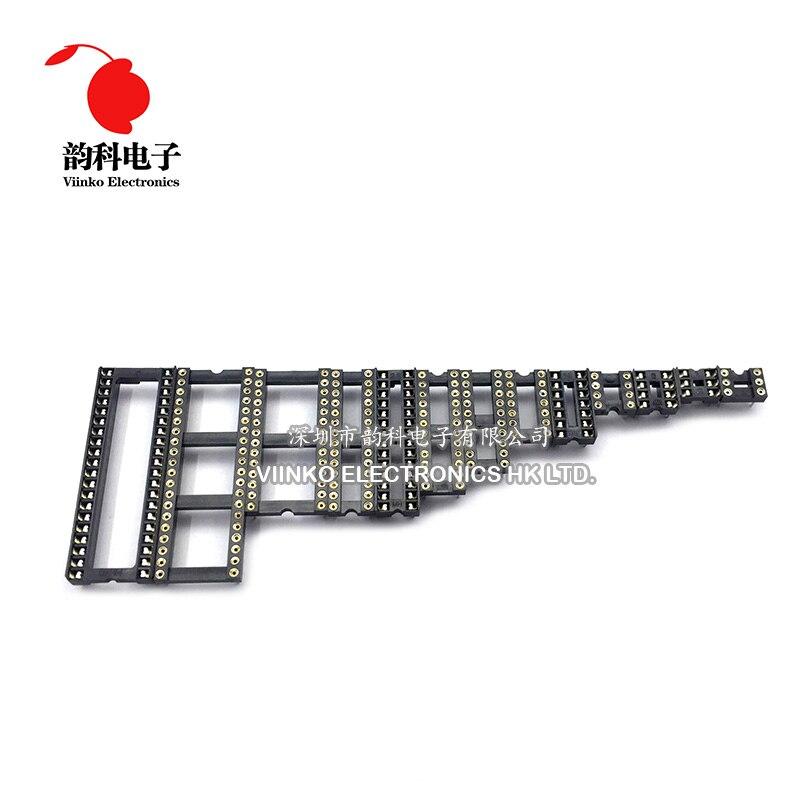 10PCS Round Hole IC socket Connector DIP 6 8 14 16 18 20 24 28 40 pin Sockets DIP6 DIP8 DIP14 DIP16 DIP18 DIP20 DIP28 DIP40 pins
