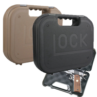 Tactical Hard ABS Glock Pistol Box Handgun Case Military Gun Protector Padded Foam Lining for Airsoft Glock G17 Hunting Caza