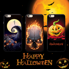 Halloween Skeleton Pumpkin phone case for apple iphone 7plus 7 6plus 6s 6 5s 5 5.5inch cover case soft tpu soft pc hard case