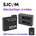 Бесплатная Доставка!! Оригинал SJCAM Аккумуляторная Li-on Аккумулятор Двойной Зарядное Устройство Костюм для M20 Спорт Действий Камеры DV + 1 шт. Зарядное Устройство