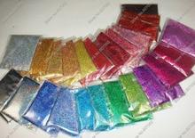 """Mezcla de 24 colores láser holográfico (0.4MM) 1/64 """"Polvo brillante de polvo para brillo de uñas para arte de uñas Decoración de bricolaje y artesanías con brillo"""