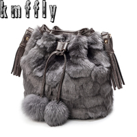 KMFFLY 2018 Winter Fur Grass Tassels Luxury Handbags Women Famous Brand Women Bags Handbags Crossbody Messenger