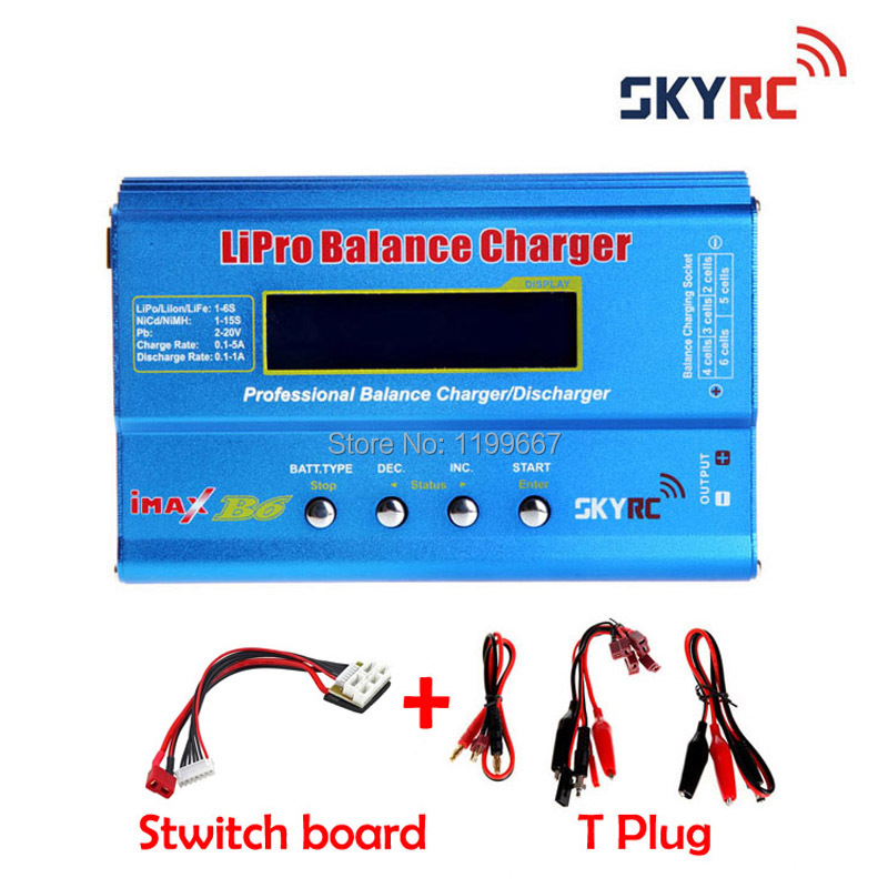 SKYRC IMax B6 2s-6s 7.4v-22.2v Digital LCD Lipo NiMh Oginal Battery Balance Charger + Switch Board skyrc d100 2 100w ac dc dual balance charger 10a charge 5a discharge nimh lipo battery charger twin channel charge
