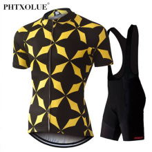 Phtxolue Cycling Set Ropa Ciclismo MTB Bike Clothing Maillot Bicycle Wear Summer Racing Jersey