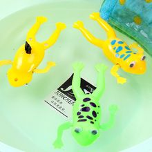 Hot Sale Full Of Vitality Swimming Frogs Relax Clockwork Frog Toy Baby Bath Toy Wind Up Toy For Kids Children Gift(China)